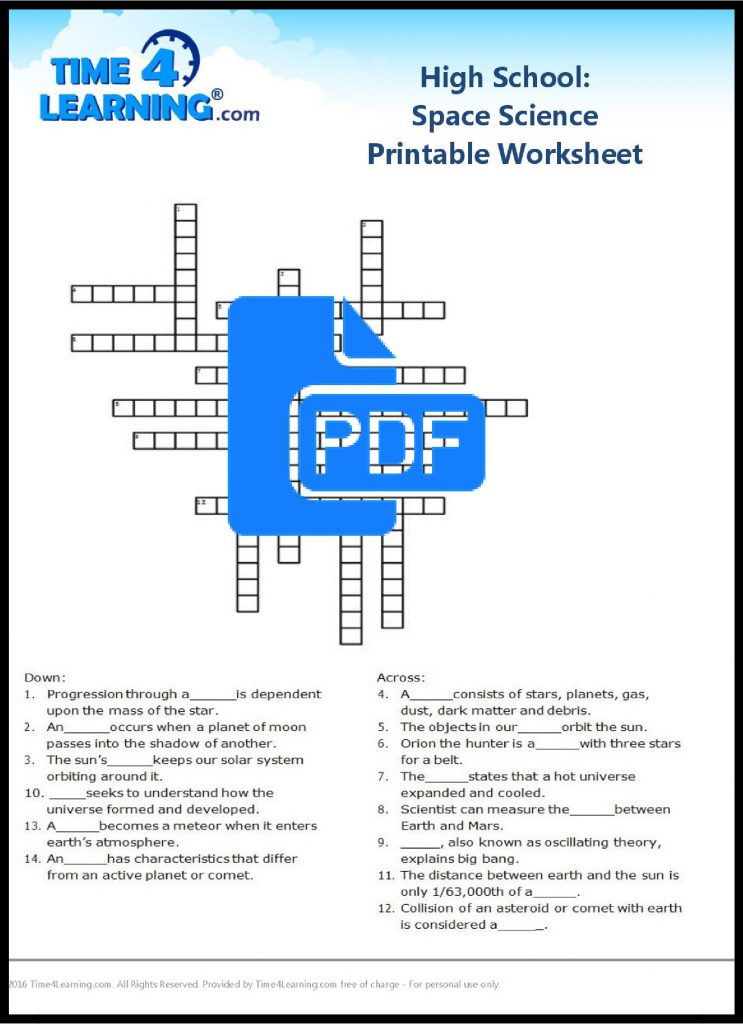This is a graphic of Satisfactory Free Printable High School Worksheets