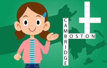 Crossword Activity for Kids Relevant to Massachusetts