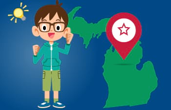 Michigan Learning Games for Kids