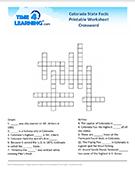 Colorado Crossword Worksheet