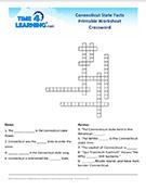 Connecticut Crossword Worksheet