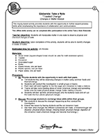 Hands-On Science Activity Sample